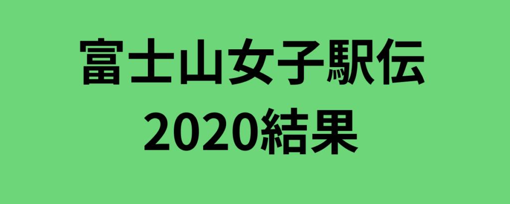 富士山女子駅伝2020結果