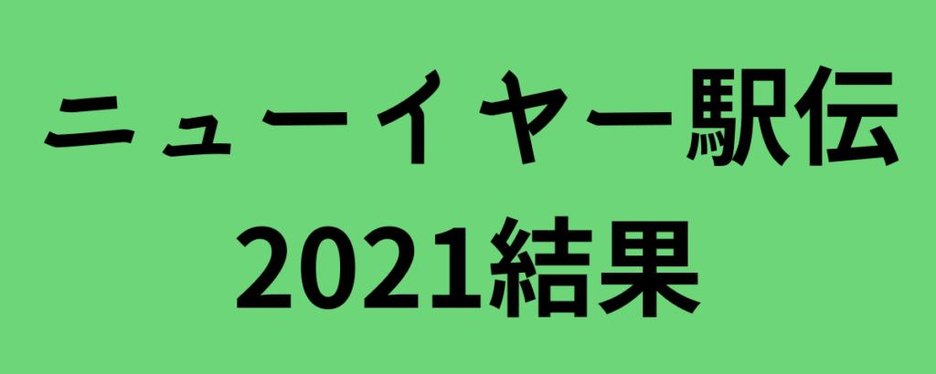 ニューイヤー駅伝2021結果