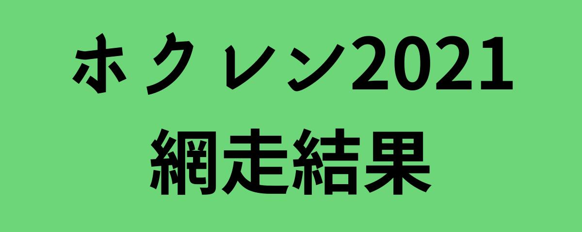 ホクレン2021網走結果