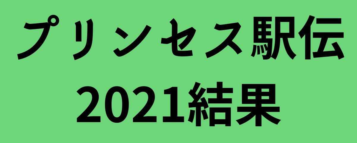 プリンセス駅伝2021結果
